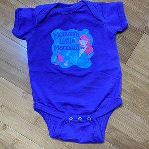 Mommy's Little Mermaid Bodysuit purple 6M